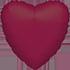Heart Burgundy